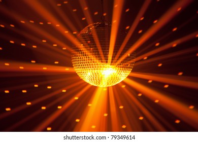 golden party lights background