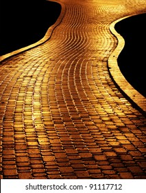 Golden path leading to success