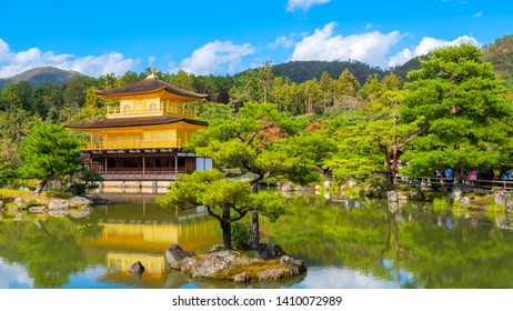 The Golden Pavilion of Kinkaku-ji temple in Kyoto, Japan