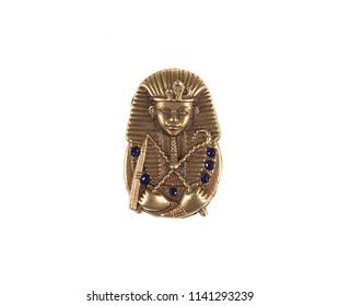 golden pharaoh on white background