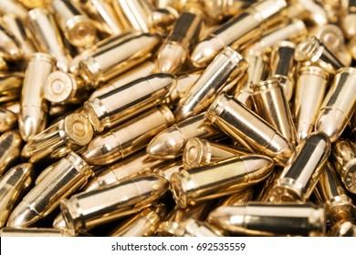 Golden pistol bullets