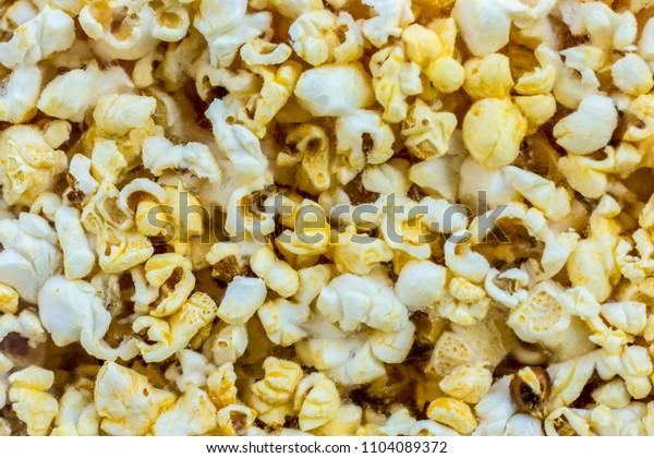 Golden Popcorn background texture