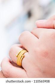 golden ring in hand