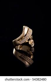 Golden Ring. Studio Photo.