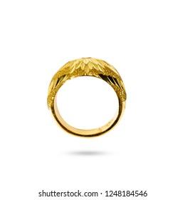 golden rings on white background