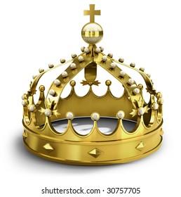Golden royal crown (3d illustration)