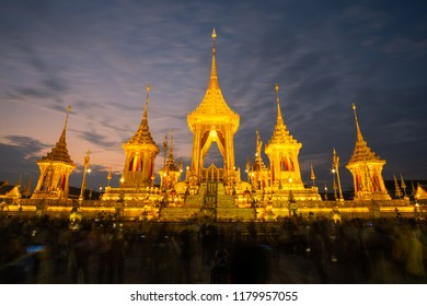 The golden royal pyre for royal funeral.