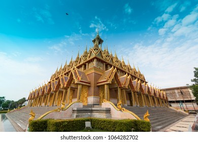 Golden sanctuary(Temple) in Wat Tha Sung Uthai Thani
