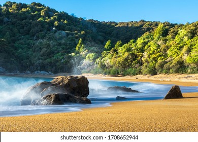 The Golden Sand Bays of Abel Tasman National Park in the South Island, New Zealand.