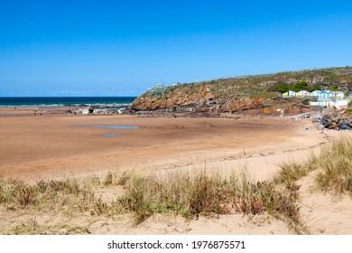 Golden sand Summerleaze Beach Bude Cornwall England UK