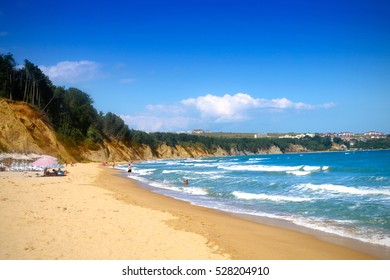 Golden Sands beach in Bulgaria, Obzor - August 26, 2016