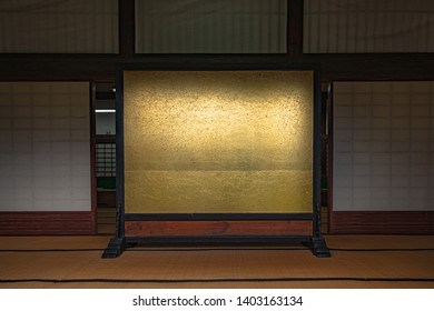 Golden screen of Japanese style