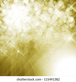 Golden shining background with defocused lights