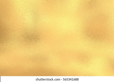 Golden shiny foil texture, gold background