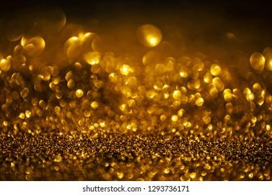 Golden shiny glitter background