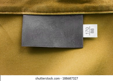 Golden silk with blank black label