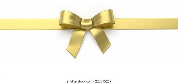 Golden silk bow
