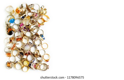 golden and silver finger-rings