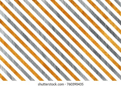 Golden and silver painted striped background. Golden and silver shining texture.