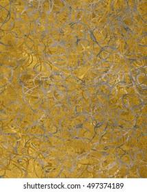 Golden Silver texture with swirls pattern