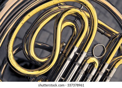 golden and silver trumpet
