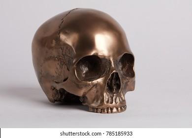 Golden Skull metalic