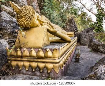 Golden Sleeping Buddha - Mount Phou Si, Luang Prabang