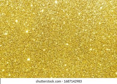 Golden sparkle glitter background, bokeh texture