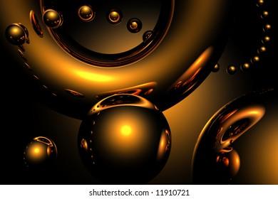 golden sparkling balls
