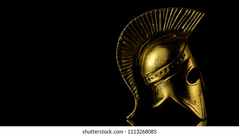 golden spartan helmet