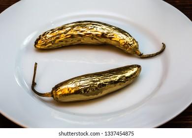 Golden spicy peppers