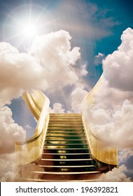 golden stairway to heaven background