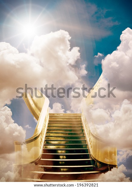 White clouds stairs, Sky Desktop Cumulus , Stairway To Heaven transparent  background PNG clipart   HiClipart