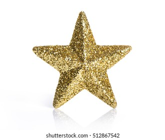Golden star on a white background