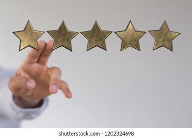 golden stars in hand