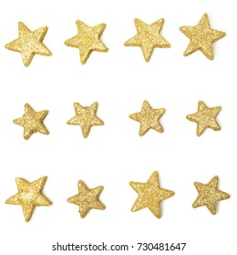 Golden Stars - Isolated on White - Collection