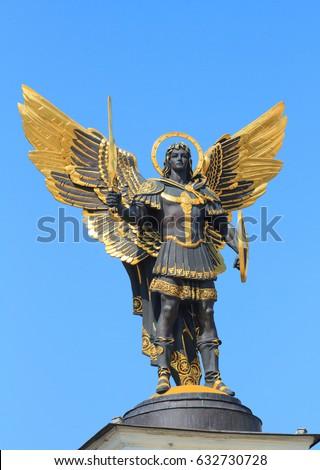 Golden statue of Archangel