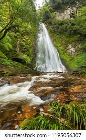 Golden Stream and  Love Waterfall at San Sa Ho, Sa Pa, Lao Cai, Vietnam