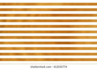 Golden striped background. Abstract pattern with golden stripes on white background. Golden shining texture. Gold paint.