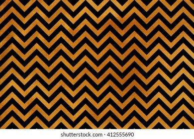 Golden stripes background, chevron. Abstract pattern with golden stripes on black background. Golden shining texture. Gold paint on black.