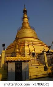 Golden stupa of the Botataung Pagoda , Yangon,  Myanmar (Burma)