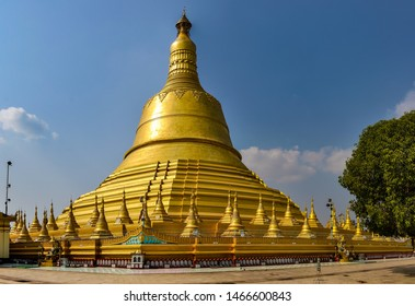 Golden stupa of Shwemawdaw Pagoda in the old city of Bago, Myanmar