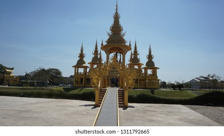 Golden Stupa at a temple of Chiang Mai