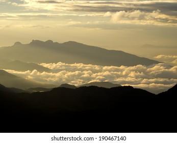 Golden sunrise in Sri Lanka