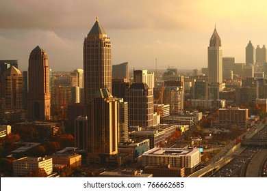 Atlanta's golden sunset