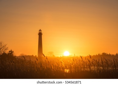 Golden sunset at Cape May New Jersey