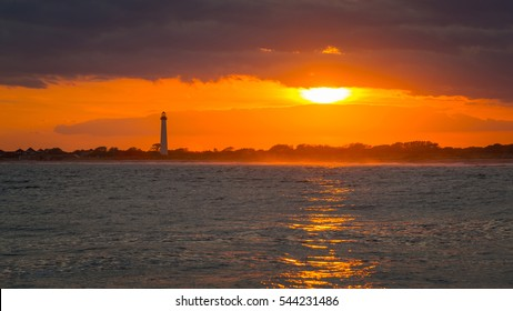 Golden sunset in Cape May New Jersey