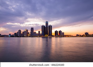 Golden Sunset at Detroit River
