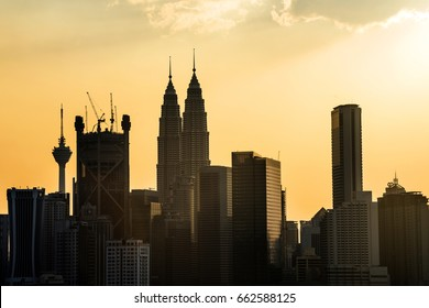 Golden Sunset in Malaysia