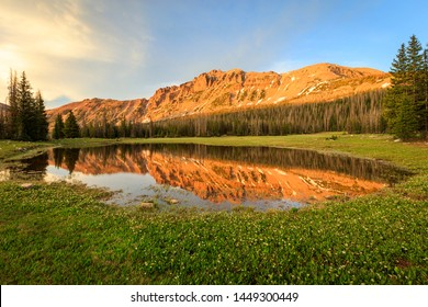 Golden sunset on Hayden Peak, Uinta Mountains, Utah, USA.